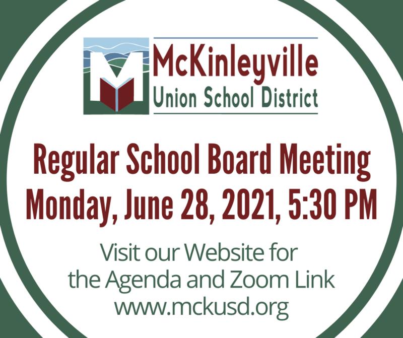 School Board Meeting Flyer