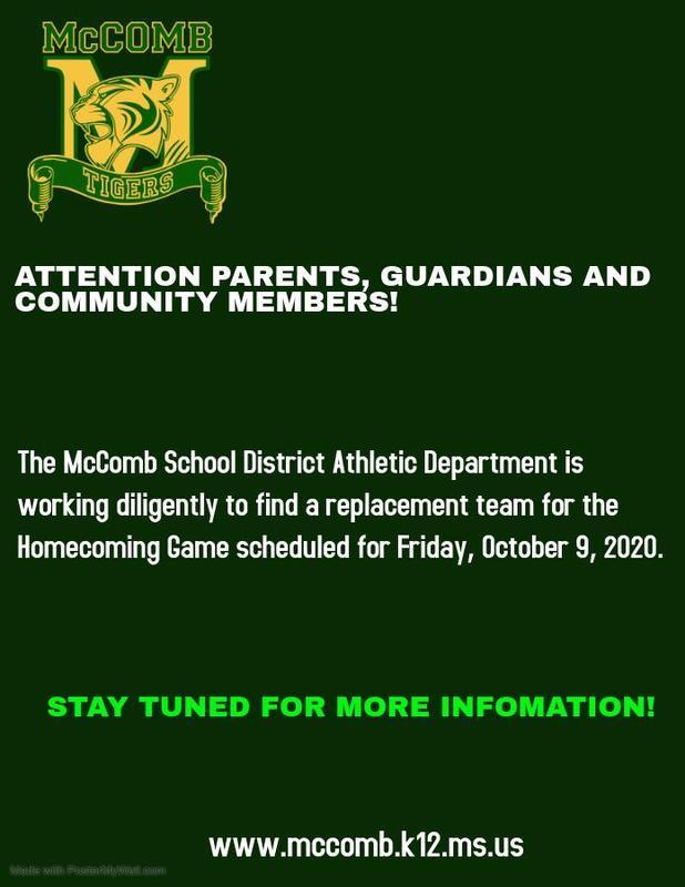 McComb High School Homecoming Football News 2020-2021
