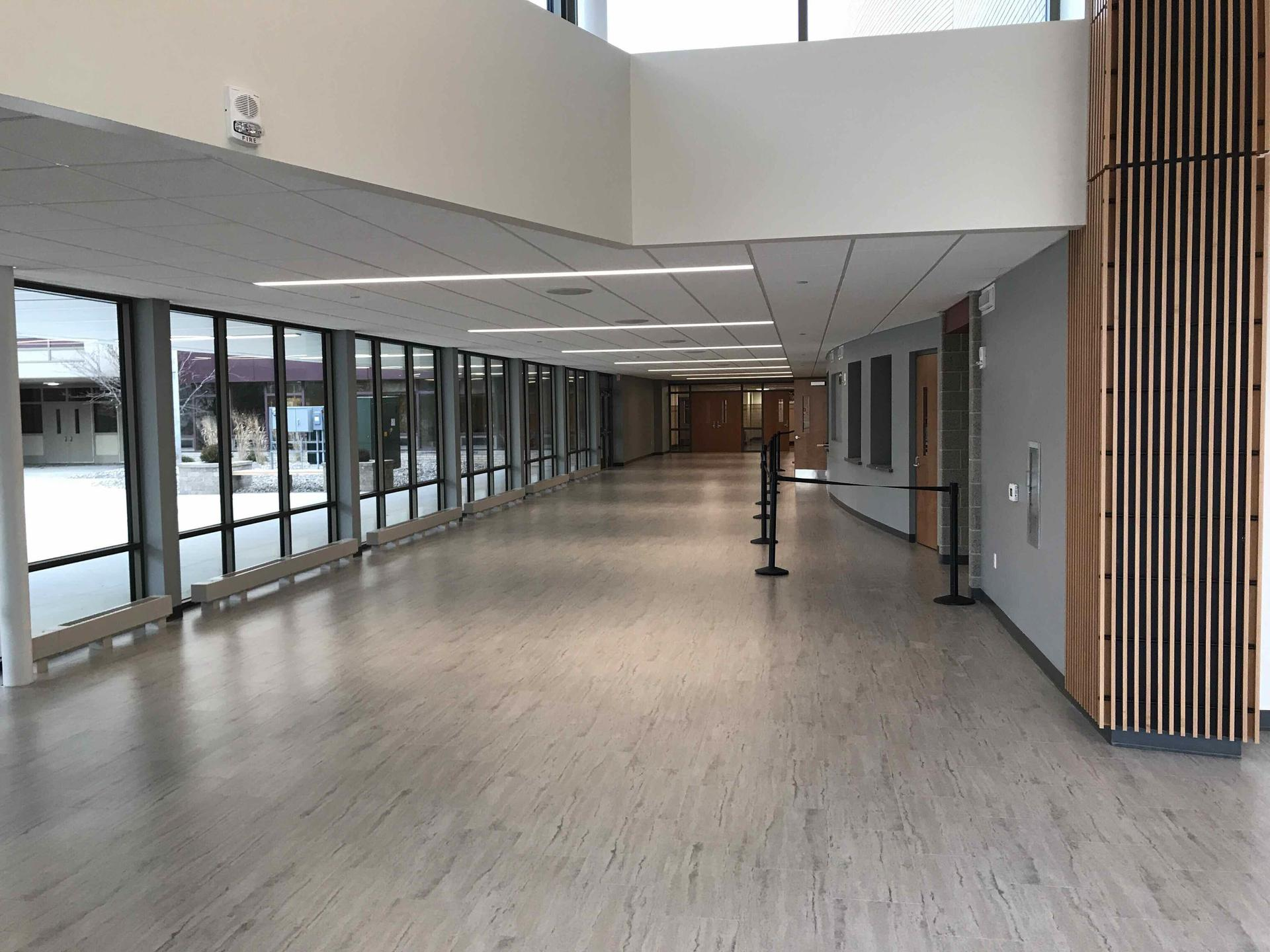 View of new lobby, looking south