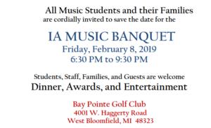 music banquet screen shot