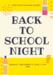 Back to school night flyer
