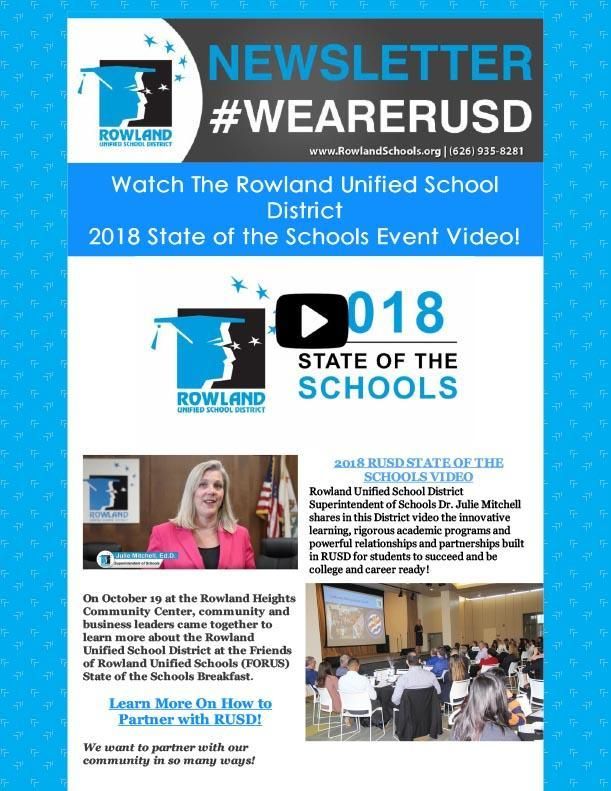 REVISED RUSD News 11/2/18 Issue - State of the Schools Video Featured! Thumbnail Image