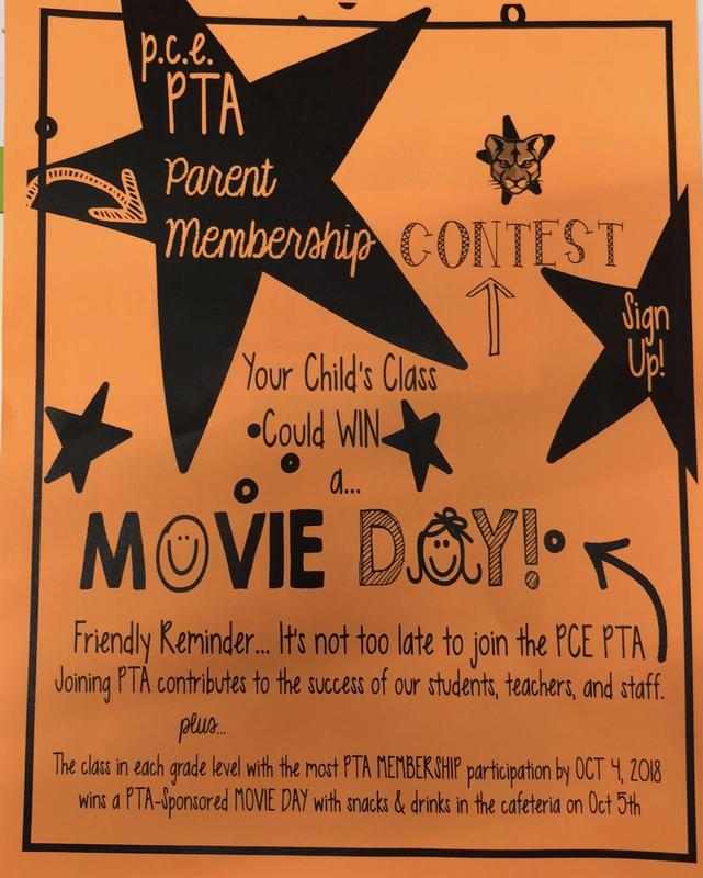 PTA Parent Membership Contest! Thumbnail Image