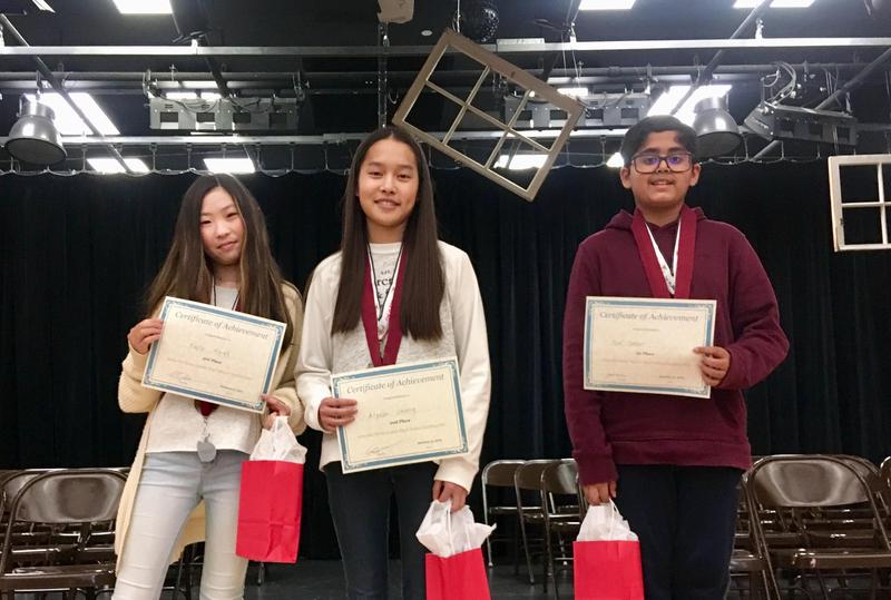 Congratulations to the Rio Spelling Bee winners! First place: Noel Sason Second: Alyssa Cheng Third: Kayla Kwak