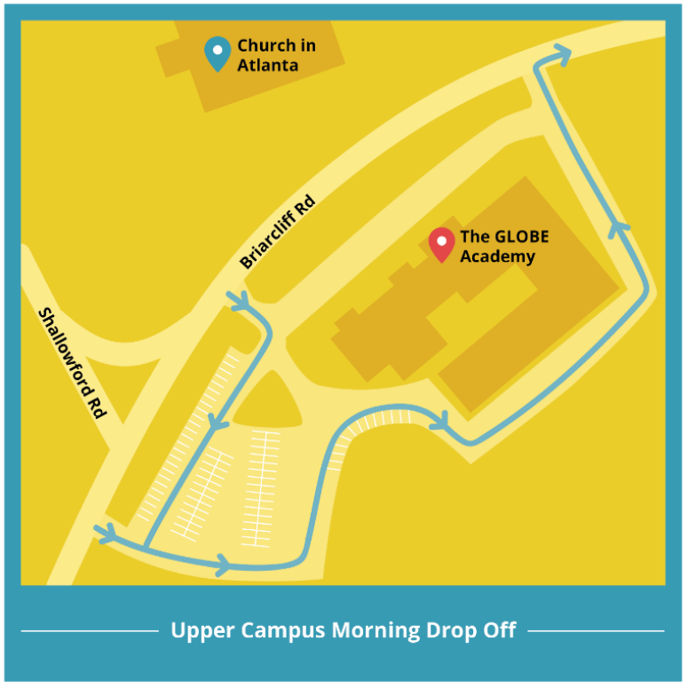Upper Campus Drop-off map