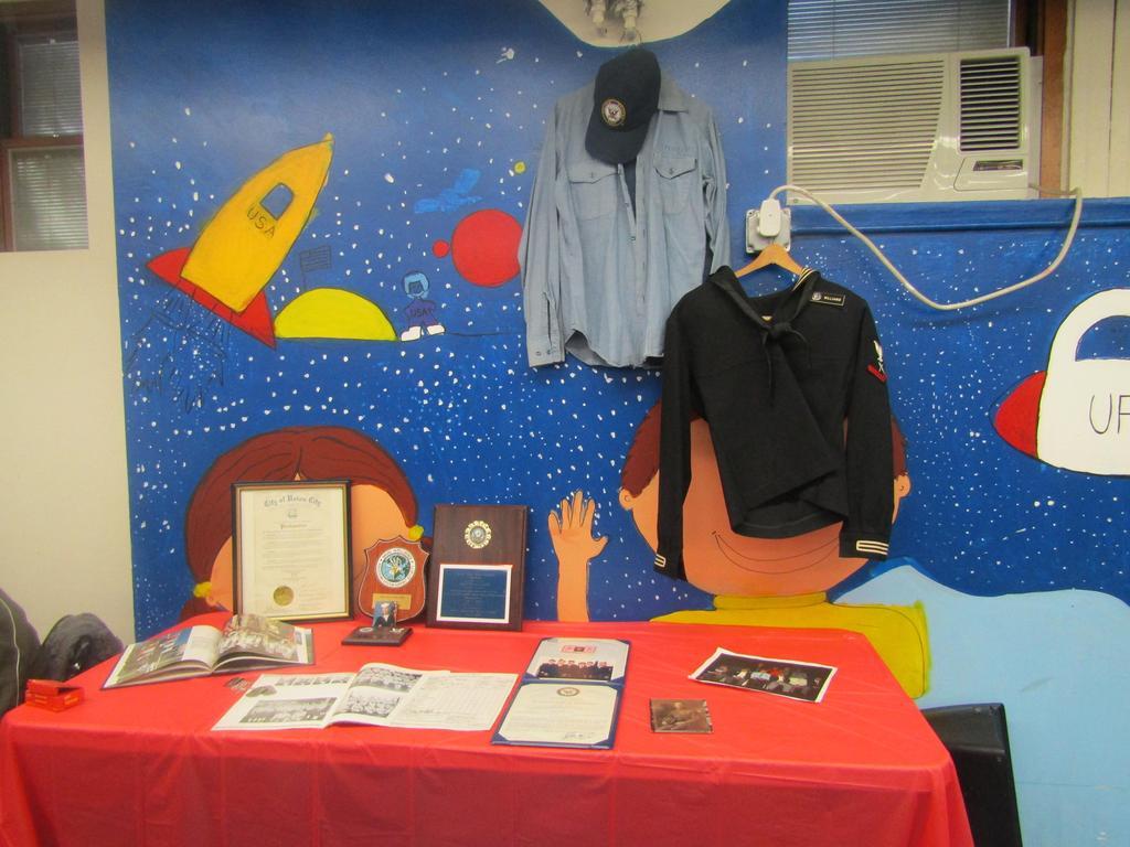 veteran's memorabilia display