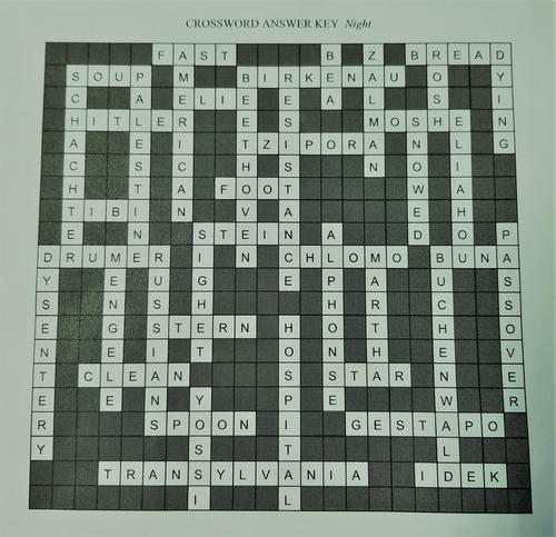 Night Crossword Key
