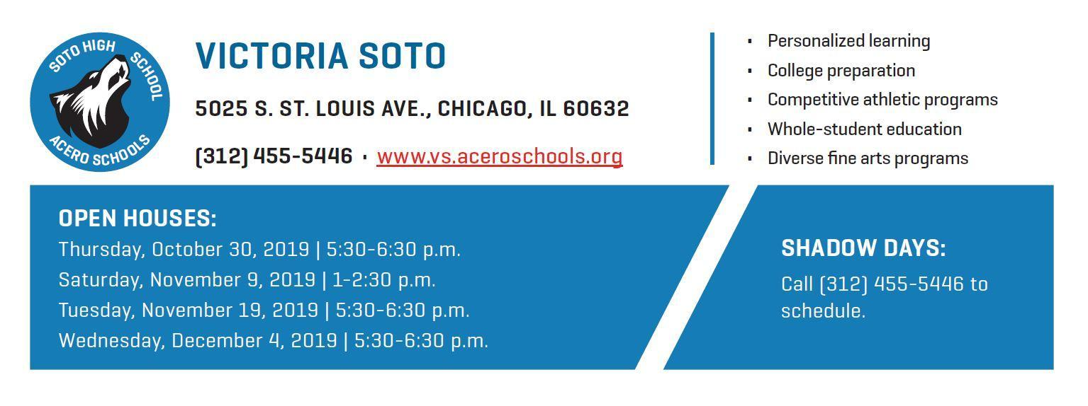 Soto Open House Dates