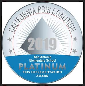 2019 Platinum Seal for PBIS implementation