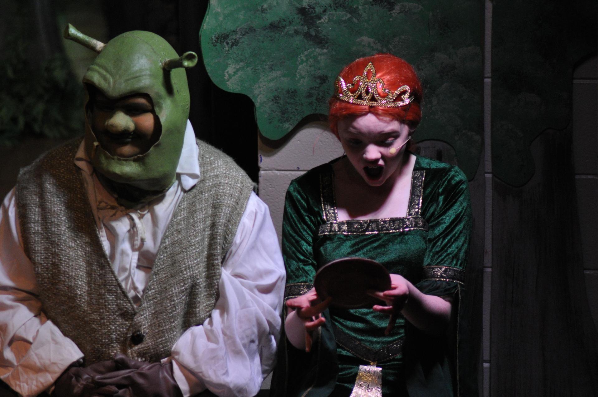 Shrek and Fiona in Children's Theater's Production of 'Shrek The Musical Jr.' in January 2018