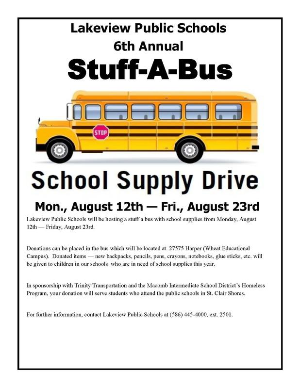 Stuff-a-Bus with School Supplies Flyer