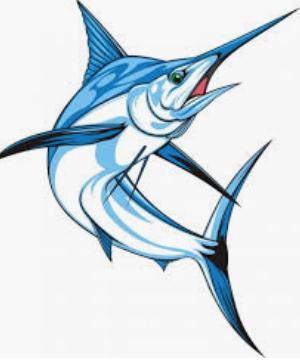 Clip Art of Marlin