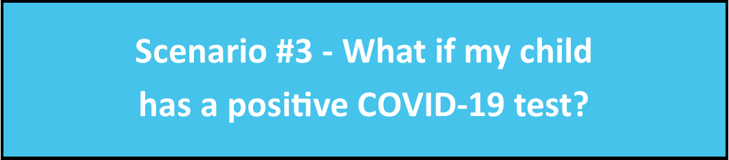 Scenario ## - What if my child has a positive COVID-19 test?