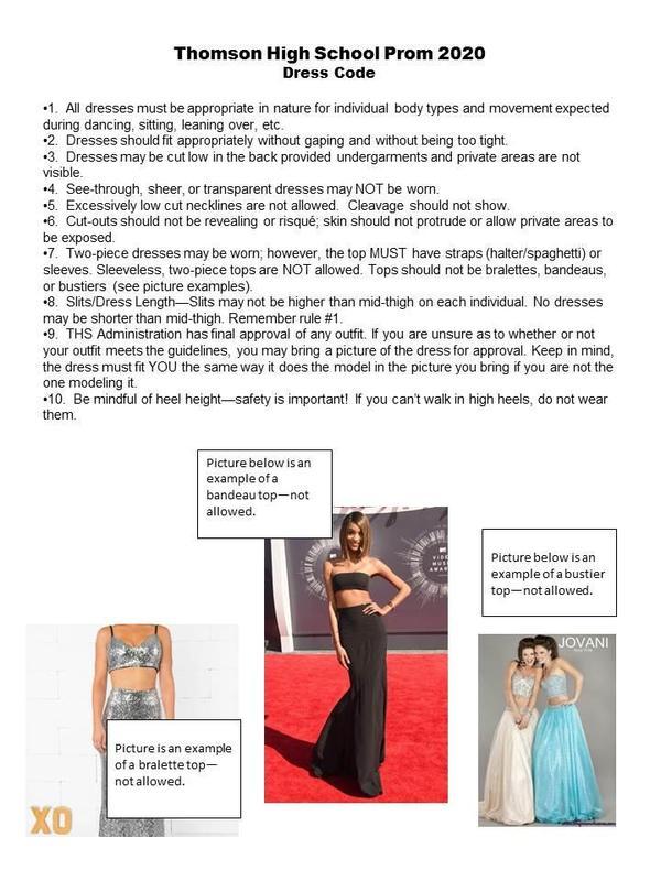 Prom Dress Code 2020