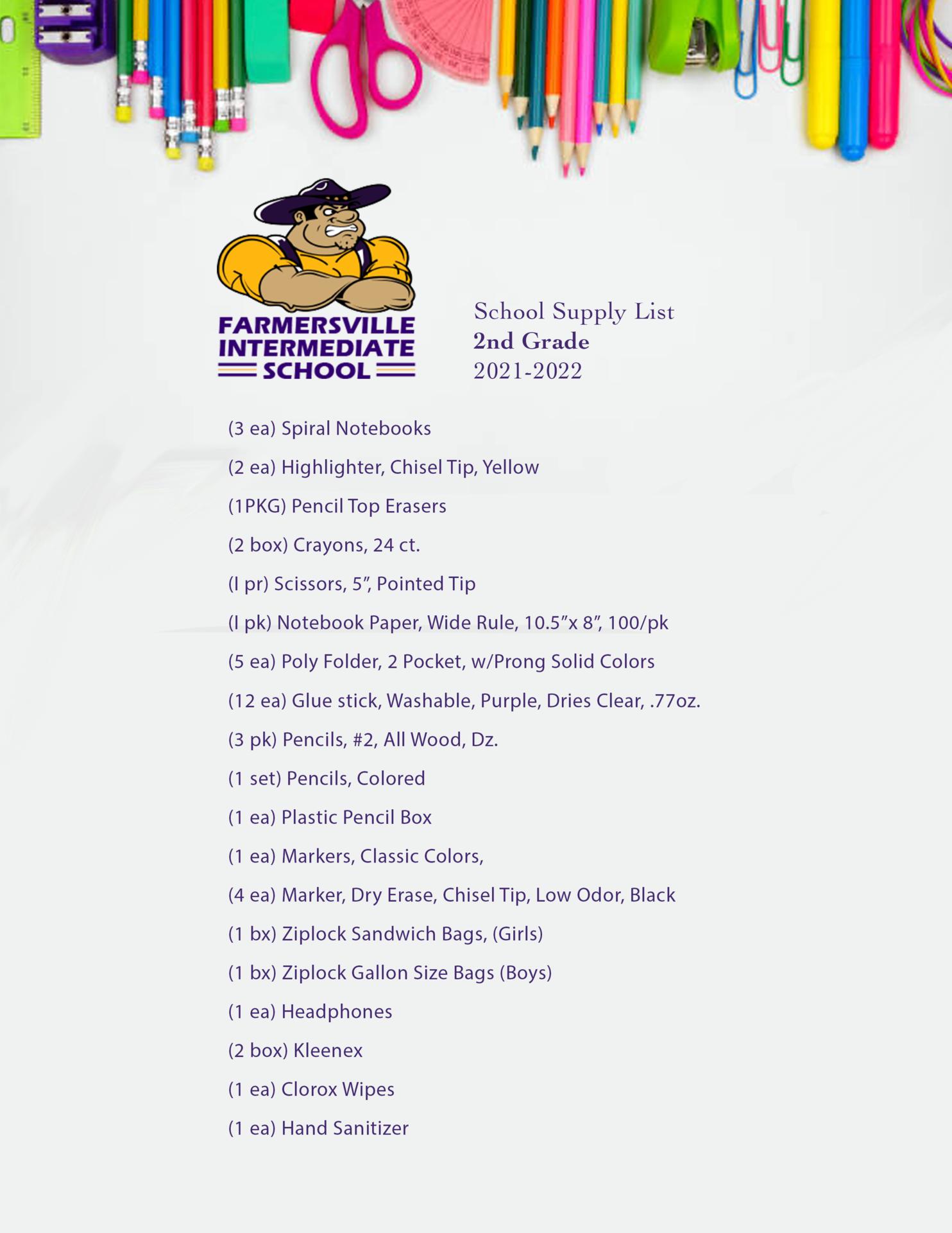 2nd Grade List