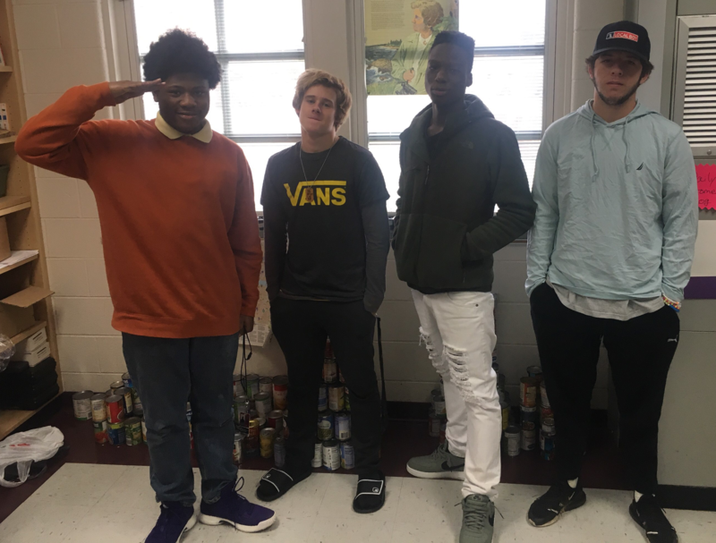 Some of the Brookland-Cayce High students who worked on the map project