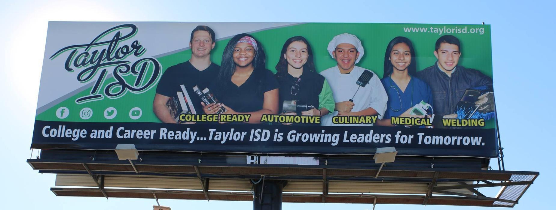Taylor ISD billboard