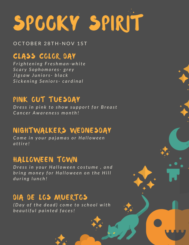 Dress up days for the week
