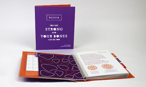 Colorful books with spiral connectors designed by BHS alumni