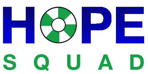 Hope Squad Logo in Blue and Green