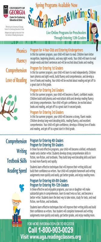UGA Reading Programs