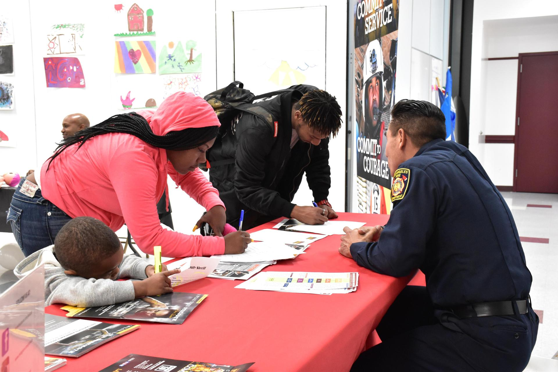 Hollywood students at Career Day