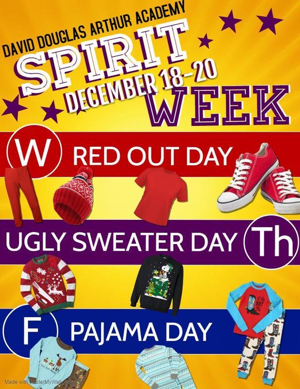 Spirit Week December 18th-20th Thumbnail Image