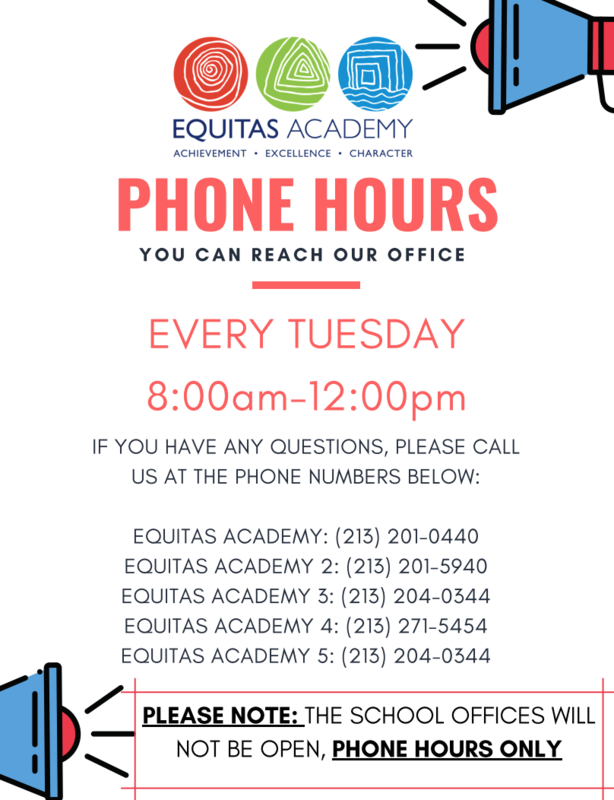 Updated Phone Hours / Cambios a Horas de Teléfono Featured Photo