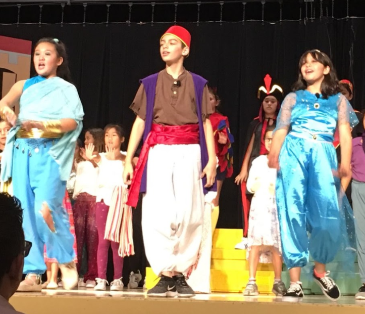 Student rendition of Aladdin