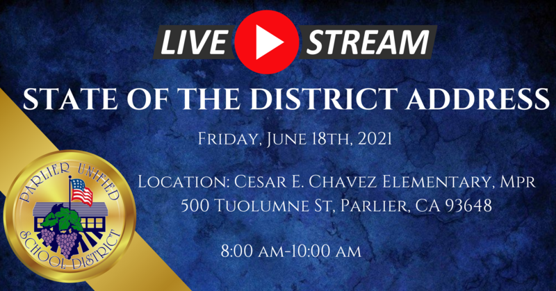 STATE OF THE DISTRICT ADDRESS- LIVESTREAM Featured Photo