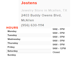 Jostens Address and Store Hours.PNG