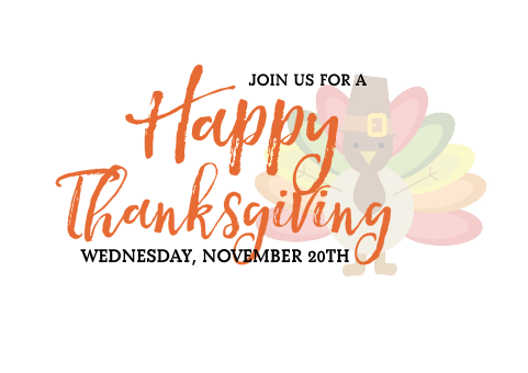 Join Us for Thanksgiving! Thumbnail Image