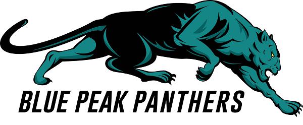Blue peak panther logo