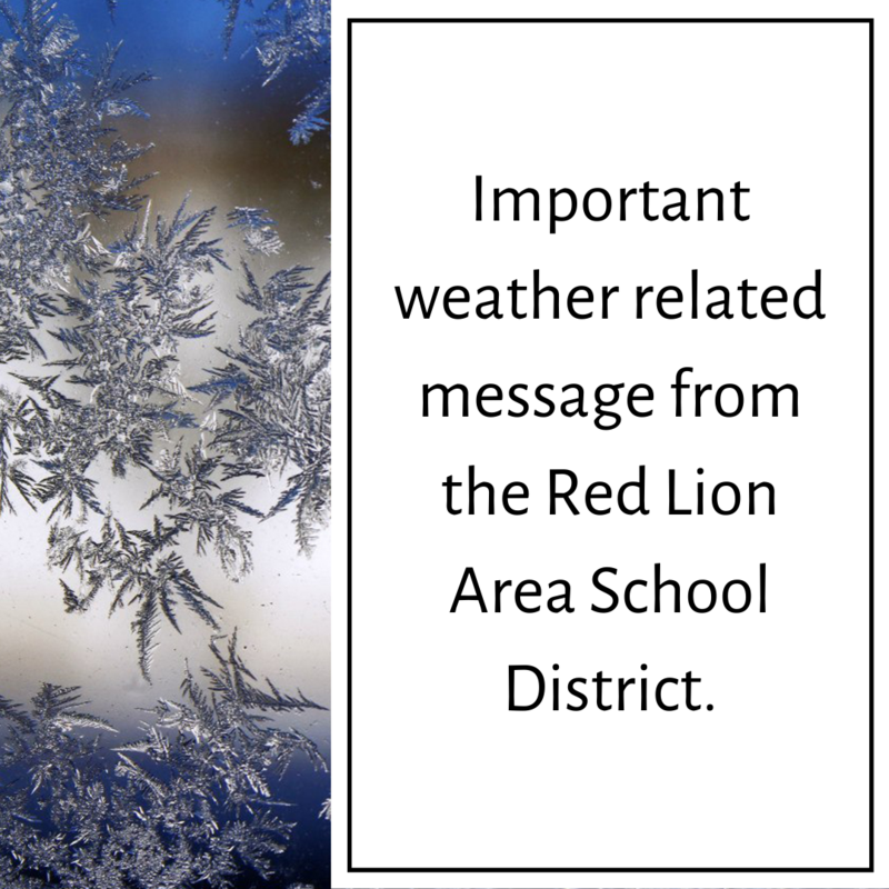 weather related message from RLASD