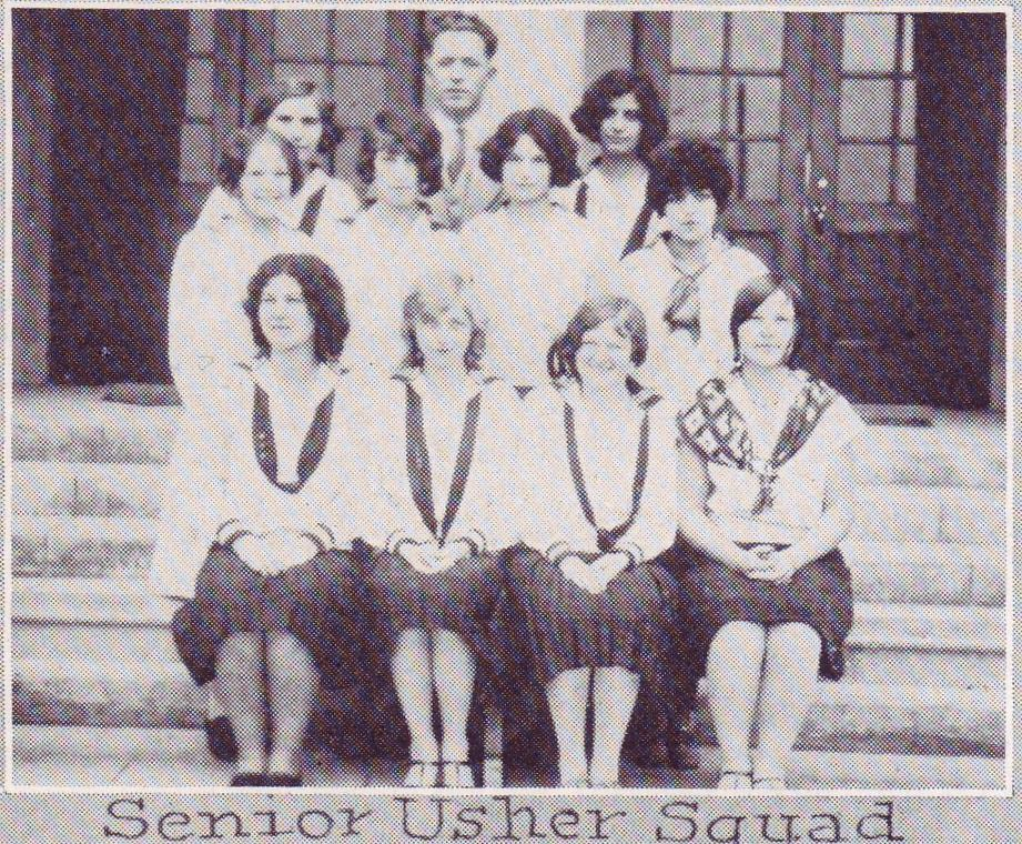 Senior Usher Squad; Pauline is top, right