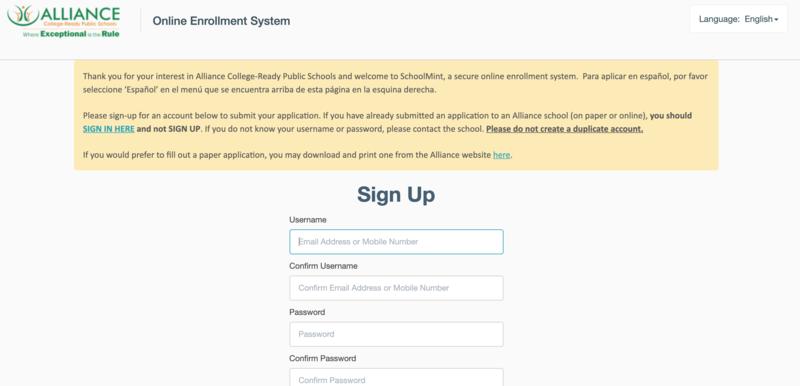 Schoolmint main page