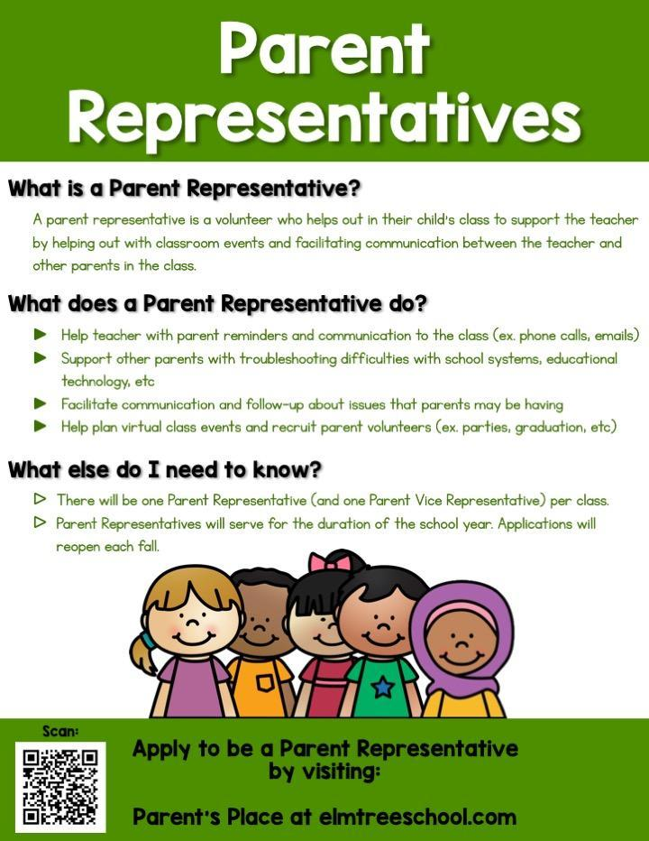 Want to be a parent representative?