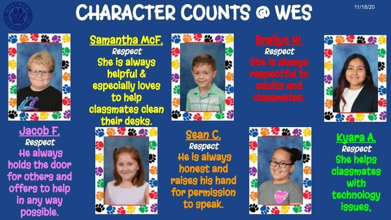 Character counts WES