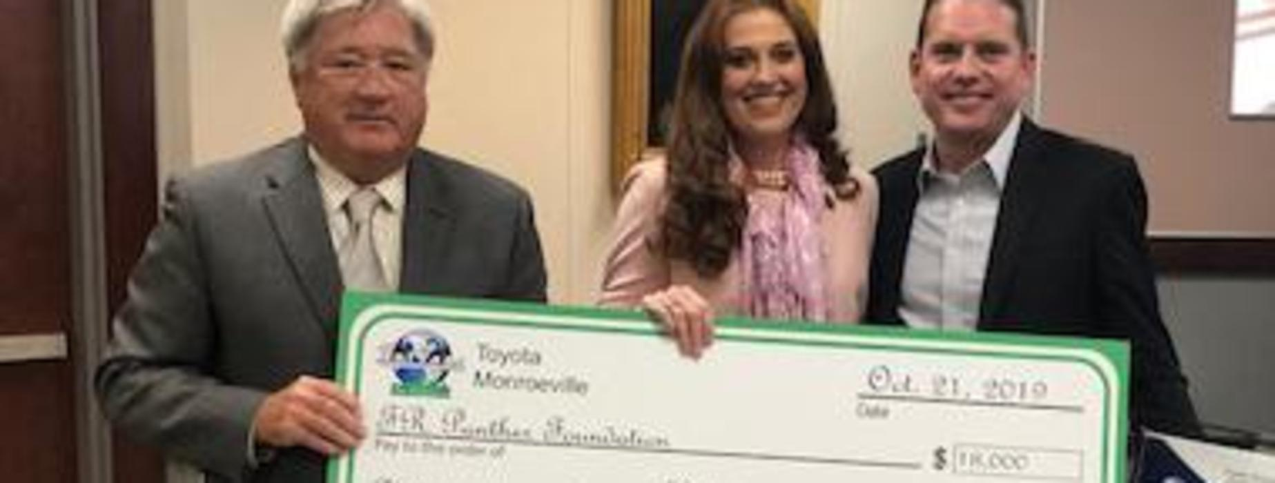 Spitzer Toyota in Monroeville Sponsors $18,000 Innovation Grant for the FR Panther Foundation.
