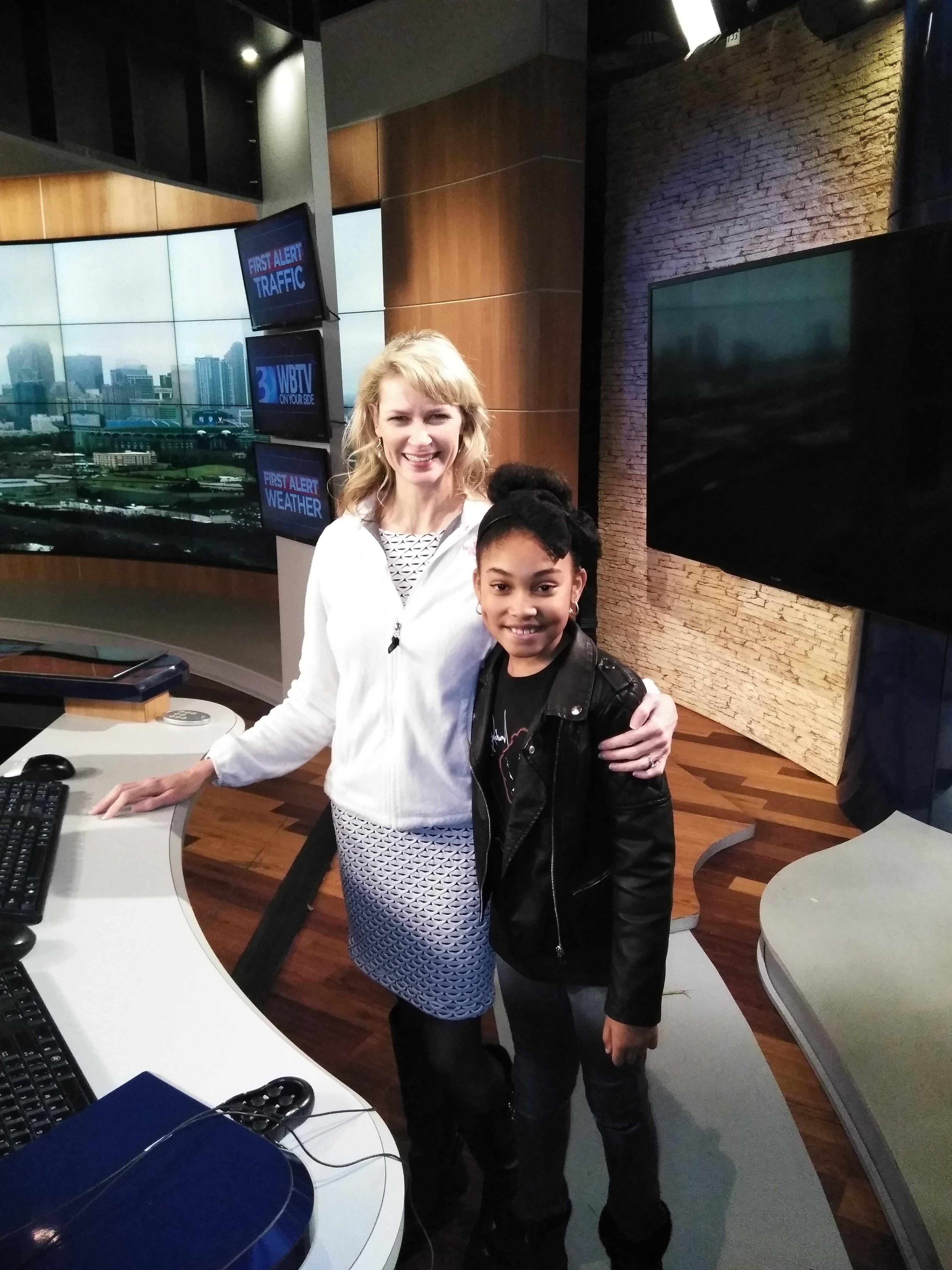 Zariah  Visits WBTV Meteorologist