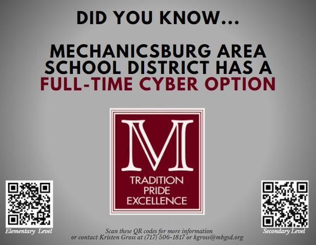 Did you know Mechanicsburg Area School District has a full-time cyber option?