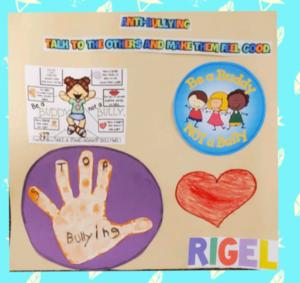Rigel's anti-bullying poster