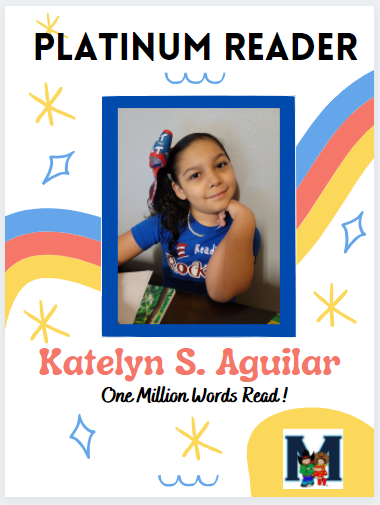 Congratulations to our 3rd Platinum Reader! Featured Photo