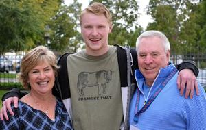 Scott Myers and his parents