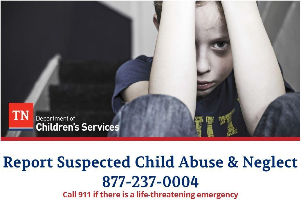 Don't be silent! Report suspected child abuse!