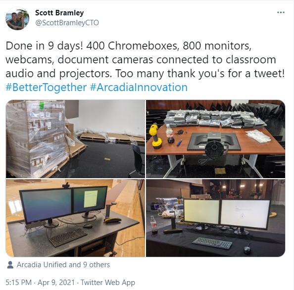 Bramley Tech Tweet