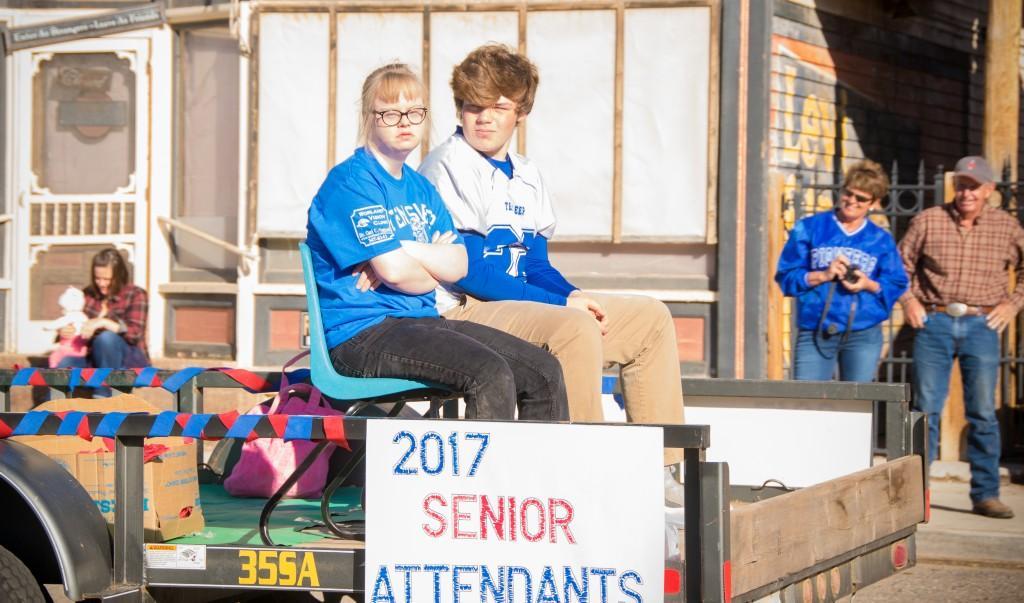 Senior Attendants at Homecoming