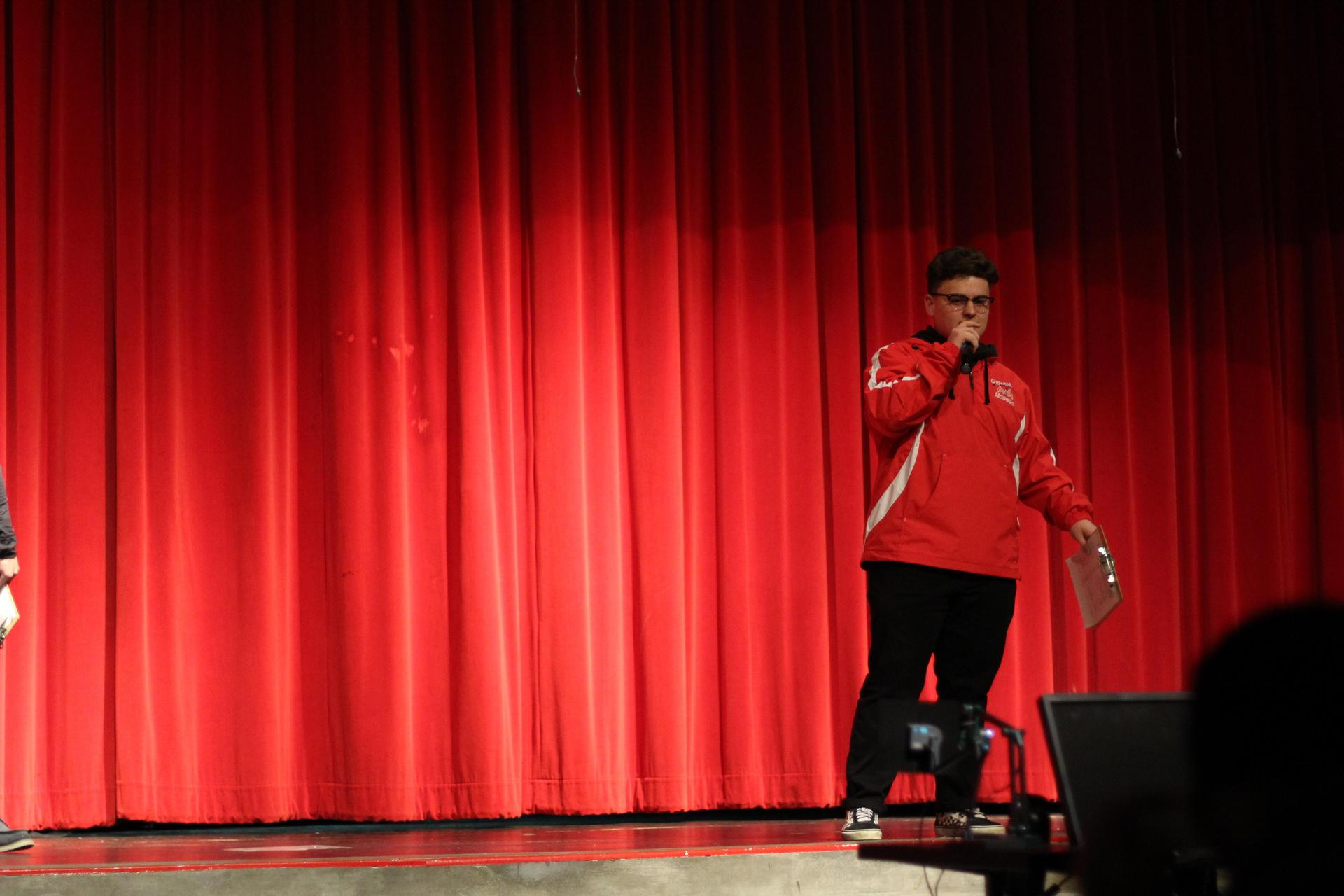 MC Noah Linhares at the NSL Talent show.