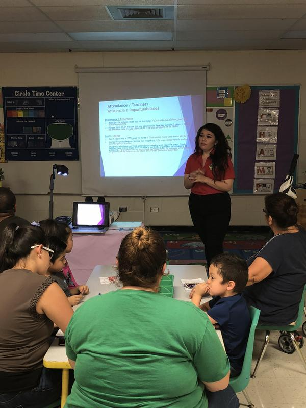 Ms. Vallejo presenting expectations.