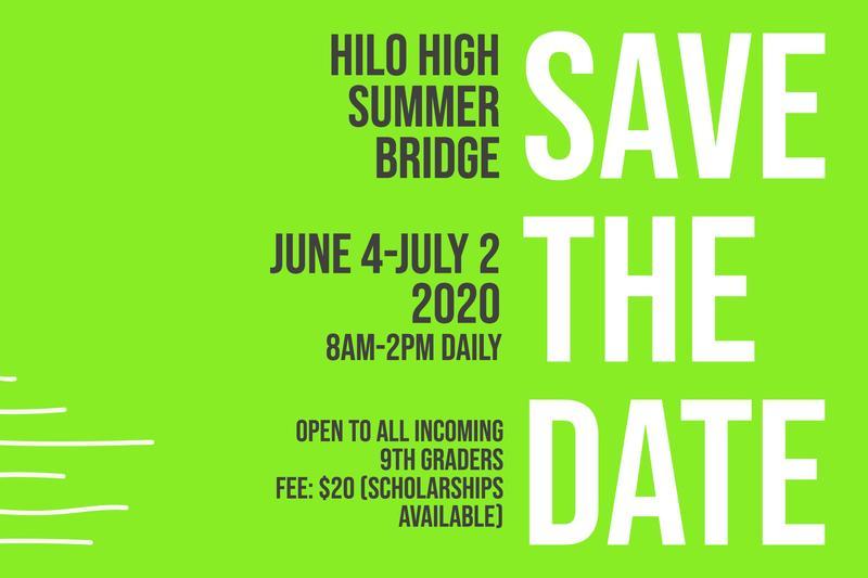 Hilo High Summer Bridge Program Announced Featured Photo